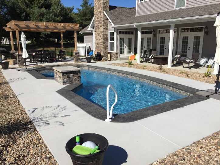 Best 25 fiberglass swimming pools ideas on pinterest small fiberglass inground pools small for Swimming pool supplies raleigh nc