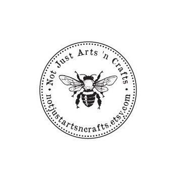 custom bumble bee round Mounted Rubber Stamp
