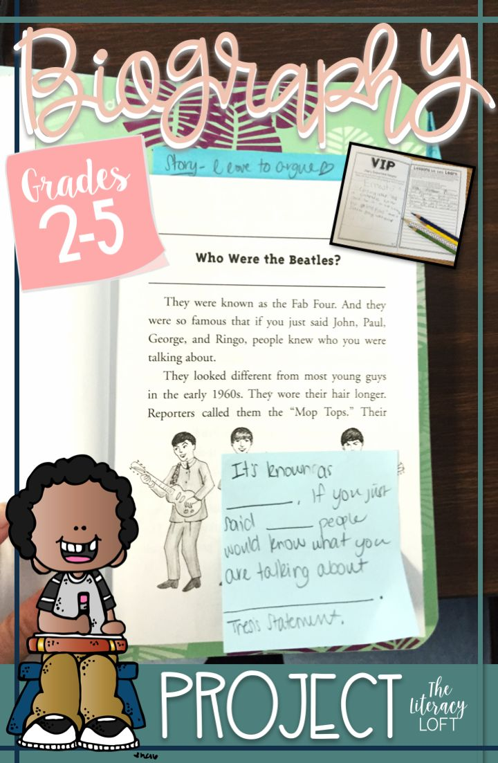 Engage and empower readers with a biography study. This biography project booklet has students study the accomplishments, lessons learned, and contributions of the subject. The project is based on the Who Was...? series, but can be used for any biography.