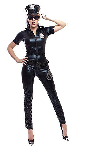 Sexy Polizei Kostum In Lack Latex Look Gr M Mottoparty Karneval