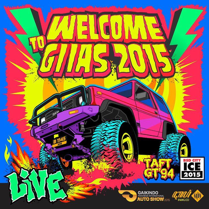 Selamat Datang di Pameran Otomotif Terbesar di Asia Tenggara.   Khusus hari ini pengunjung umum bisa masuk pada pukul 17.00    #GAIKINDO #AutoShow #GIIAS2015 #ICE_BSDCITY #meme #theartofautomotive  Ilustrasi oleh @ipztar