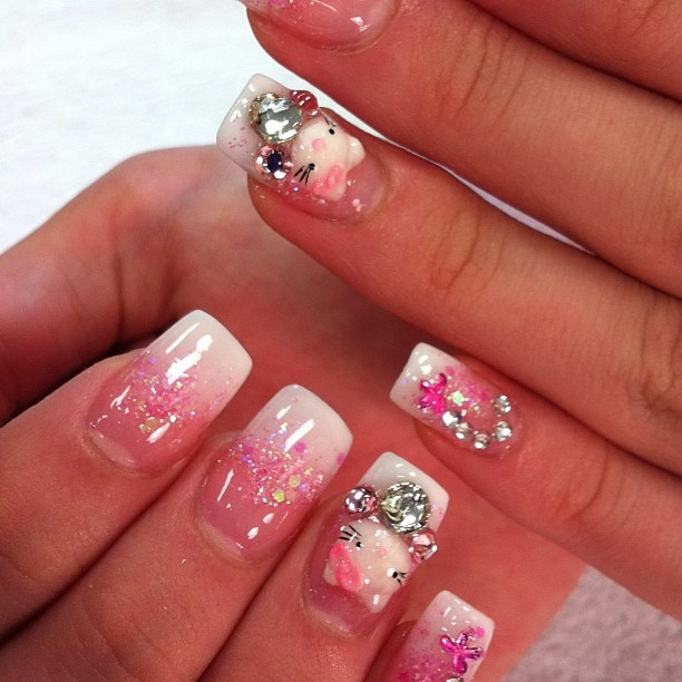 90 best Hello kitty nails images on Pinterest | Hello kitty nails ...