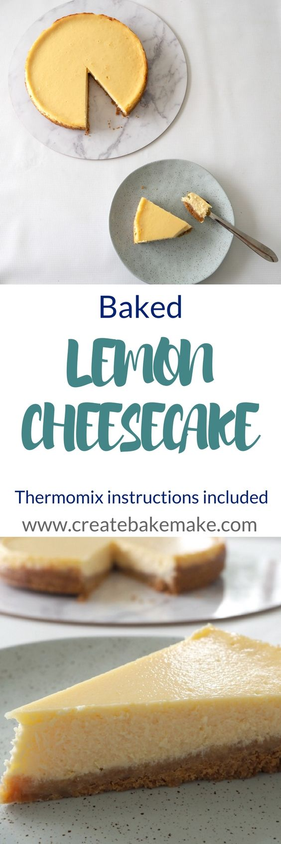 Baked Lemon Cheesecake Recipe