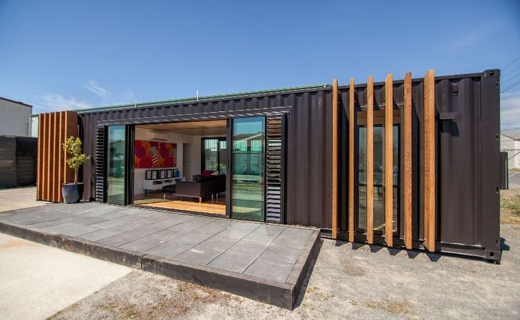 shipping container house converted from two 40' containers