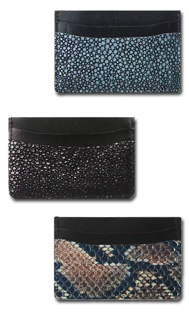 Eye-catching card holders with interior suede lining! #blackfriday, #cybermonday