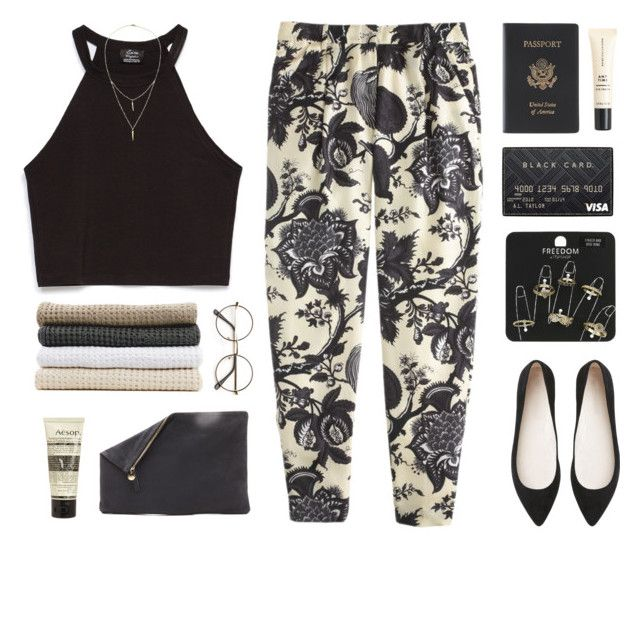 melanie by catqurl on Polyvore featuring Zara, J.Crew, Witchery, Clare V., Royce Leather, Topshop, Alicia Marilyn Designs, Aesop and Abyss & Habidecor