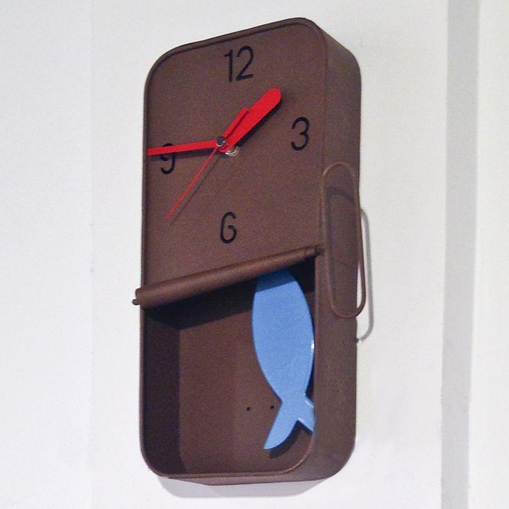 Original reloj de pared Lata de sardinas   o2lifestyle