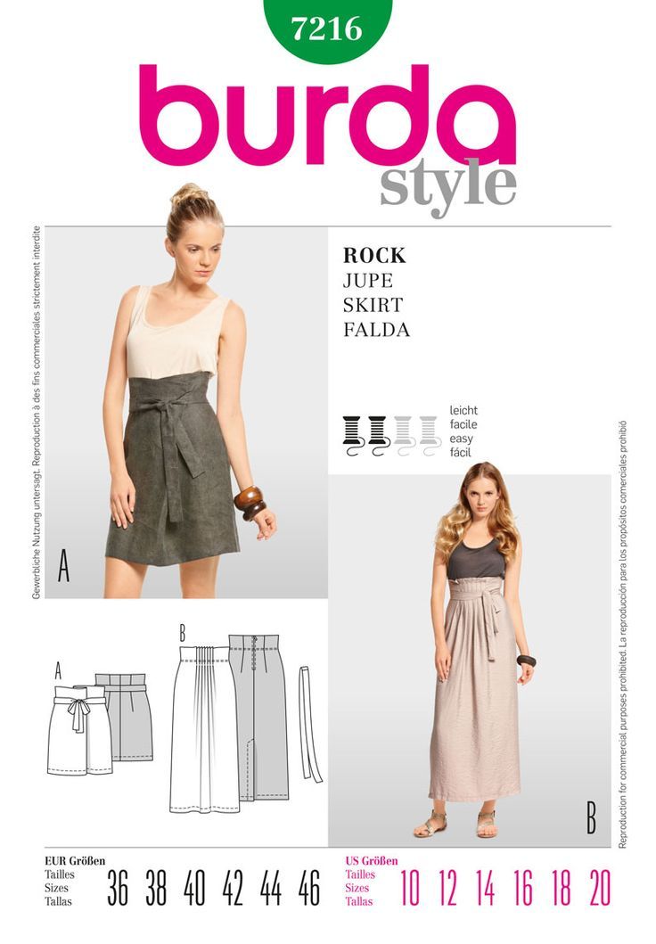 Simplicity Creative Group - Burda Style Skirt (cool high-waisted skirts)