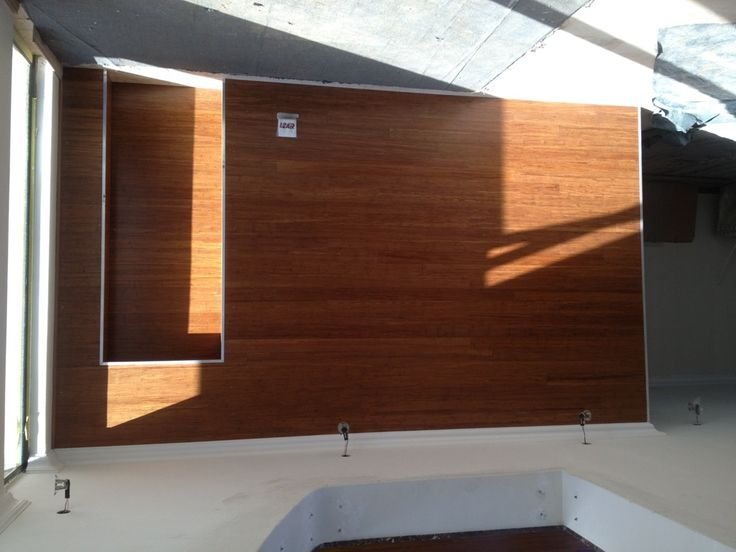 Bamboo flooring used for wall cladding !!