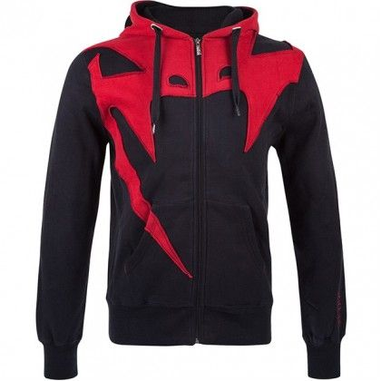 Venum Assault [Men's] Hoodie, Black/Red.. (I bet I could pull this off, in a size small..)