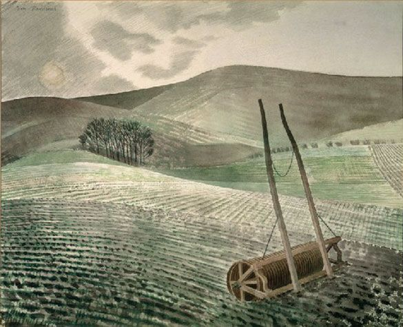 Downs in Winter', by Eric Ravilious, 1934