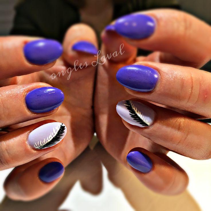 #leboudoirespacebeaute #ongleslaval #lavalnails #healtynails #naturalnails #purple
