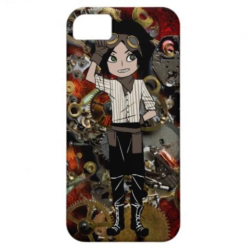 Steampunk Boy iPhone 5 Cases