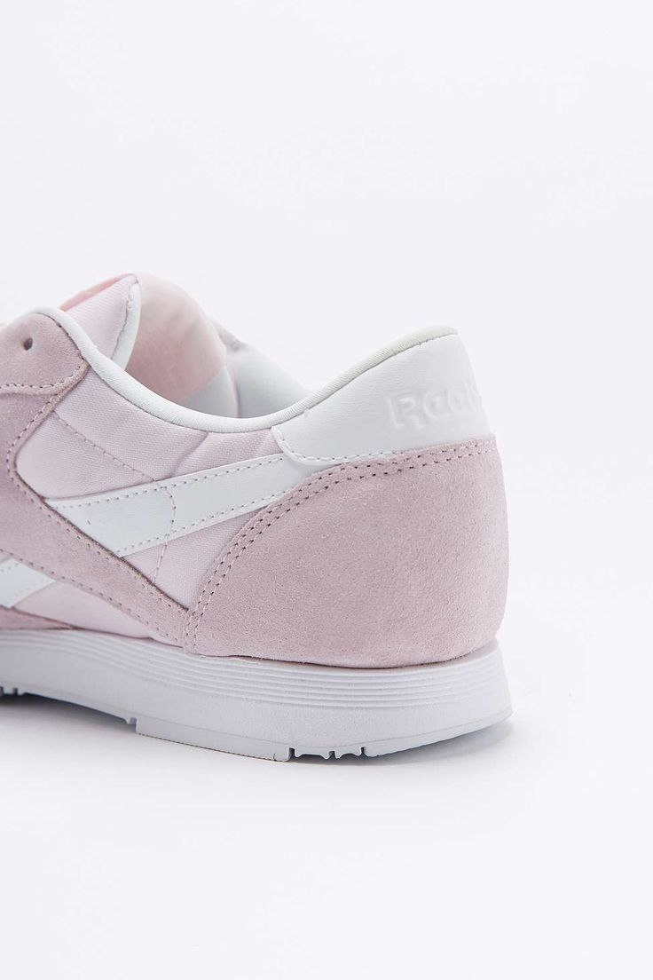 Reebok Classic Pink Nylon Trainers