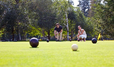 One doesn't find bocce ball too often these days . . .