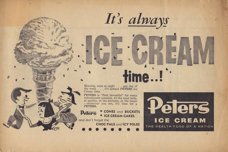 Peters' Ice Cream Perth 1960