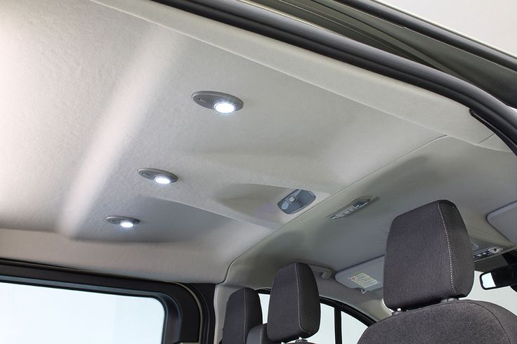 Our double cab headliners match the front headliner for Space headliner