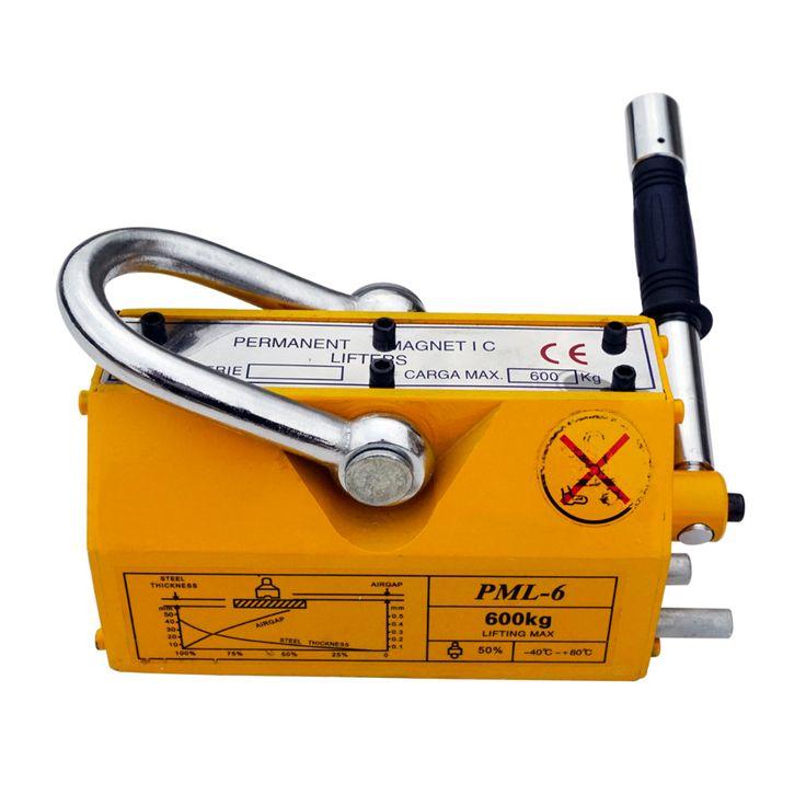 ECO-SOURCES Hoge Kwaliteit 600 KG Staal Magnetische Lifter Zware Kraan Hoist Lifting Magneet 1320lb