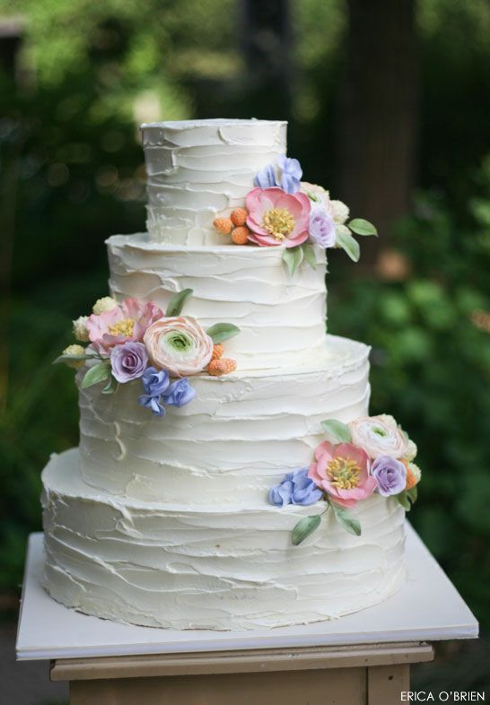wedding cake flowers 2 rustic buttercream amp sugar flowers rustic wedding cakes 8646