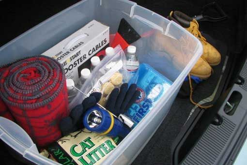 Survival Tip: Heres what you need for a winter survival kit in the car.