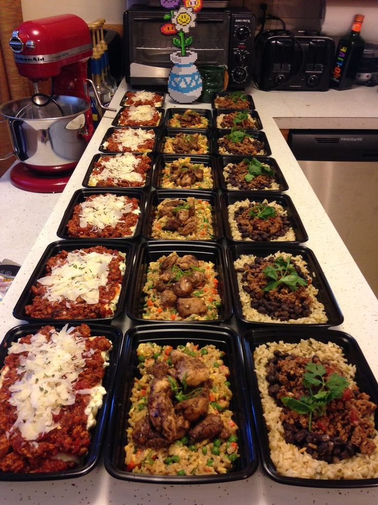 Lasagna, Bourbon Chicken, and Beef Burrito Bowls $40 and 3 hours of labor for 20 meals!