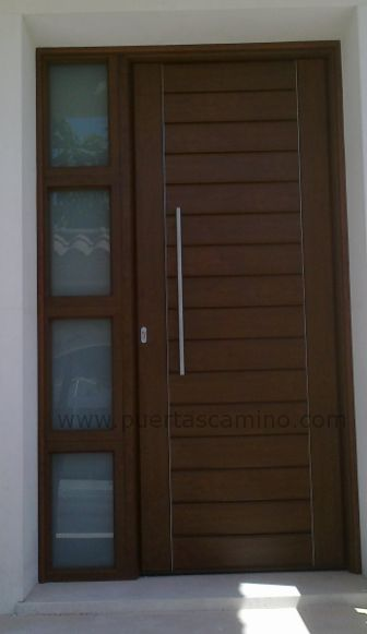 24 best contemporary front entry doors images on pinterest - Puertas de madera para exterior ...