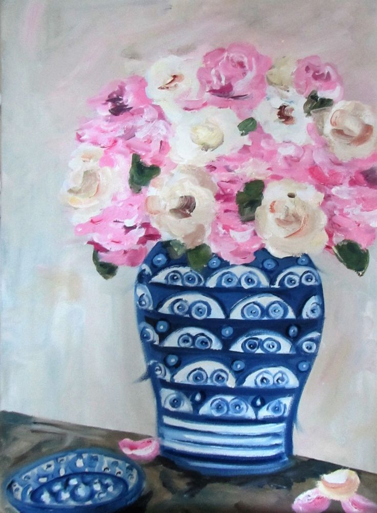 Roses in Pottery - 400 x 540 - R1800