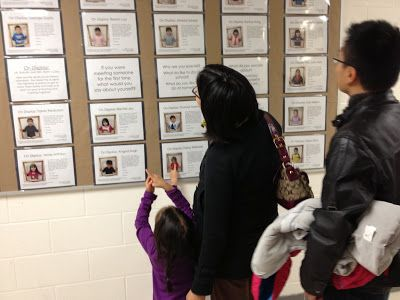 Child interviews with pictures for families to read