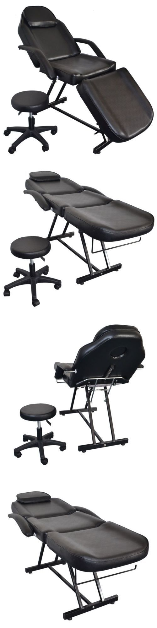 Massage Tables and Chairs: Portable Tattoo Parlor Spa Salon Facial Bed Beauty Massage Table Chair Black BUY IT NOW ONLY: $149.99 #MassageTablesNow