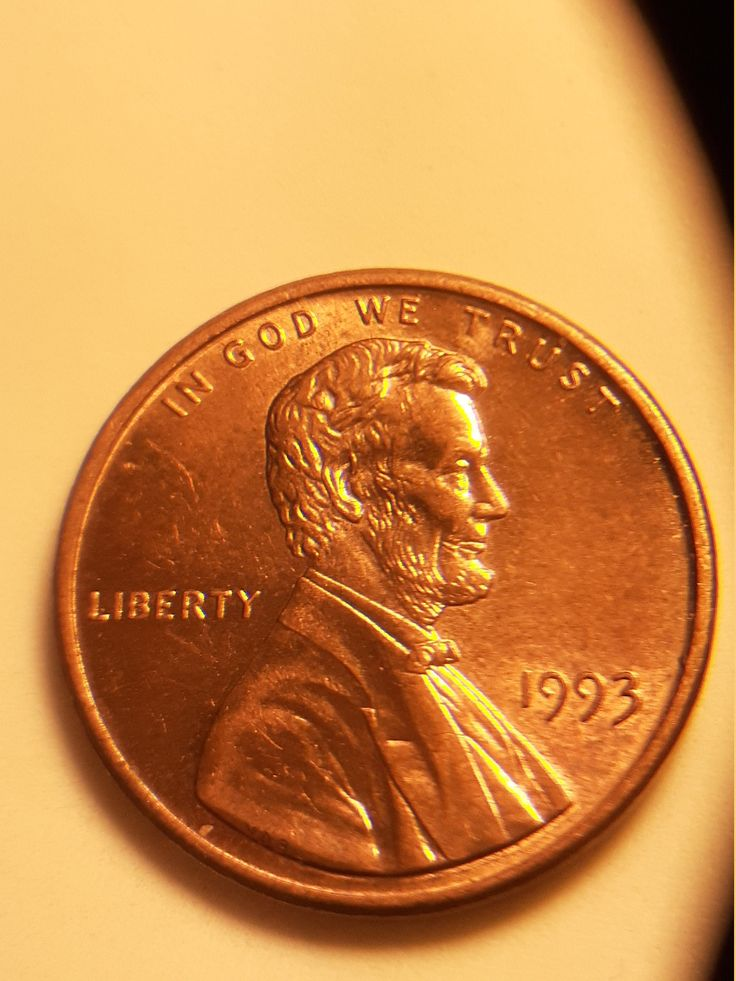 1993 Penny Very Rare Lincoln's Tongue is out, No Mint Mark ...
