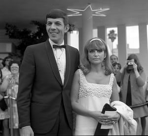 1966 Leonard Nimoy with wife Sandra Zober attend an event in Los Angeles,CA