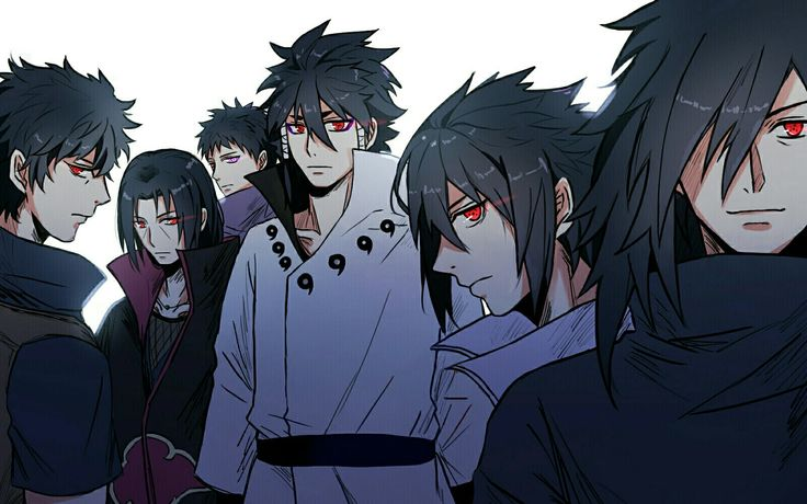 Indra Ōtsutsuki (大筒木インドラ) / Indra Outsutsuki, Madara Uchiha (うちはマダラ), Sasuke Uchiha (うちはサスケ), Itachi Uchiha (うちはイタチ), Shisui Uchiha (うちはシスイ) & Obito Uchiha (うちはオビト) / Tobi (トビ)   NARUTO (ナルト)