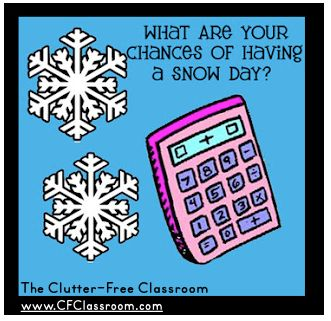 Wondering what the chances are of having a snow day? Check out this fun calculator to find out!