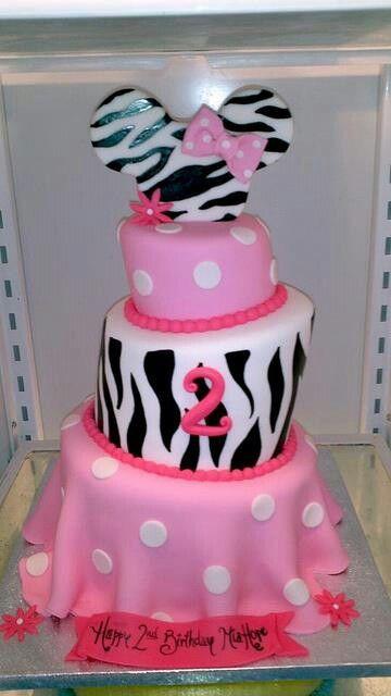 3 Terr mini mouse and zebra cake