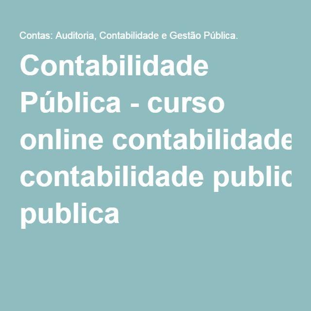 Contabilidade Pública - curso online contabilidade publica