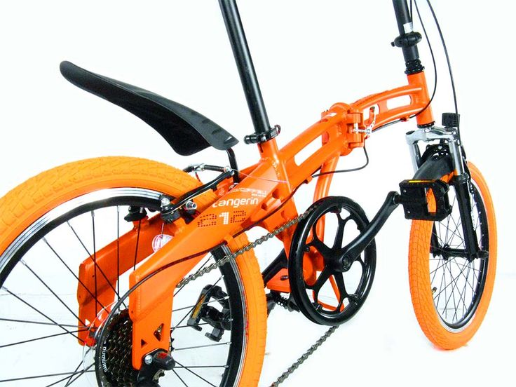 Folding bikes, unique Japanese design is a 2tube frame, bright colors, standard components, custom style. Eye-catching effect.