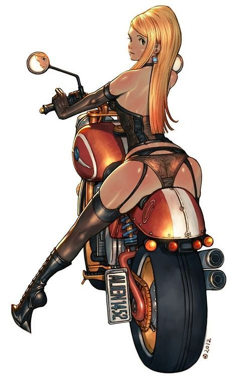 Quickly thought)))) anime bikergirls