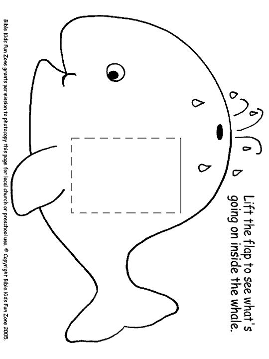 Lift the flap whale worksheet. Does not come with template for Jonah inside.