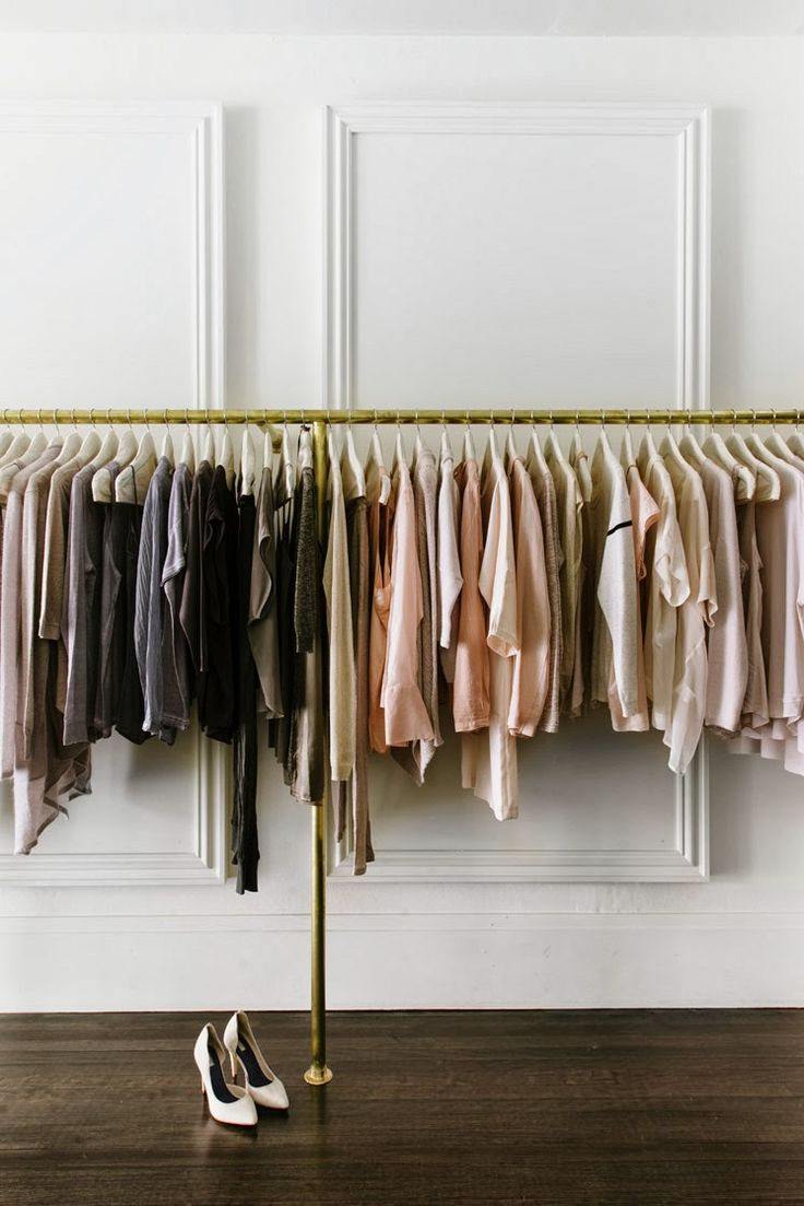 greige: interior design  The un-closet closet