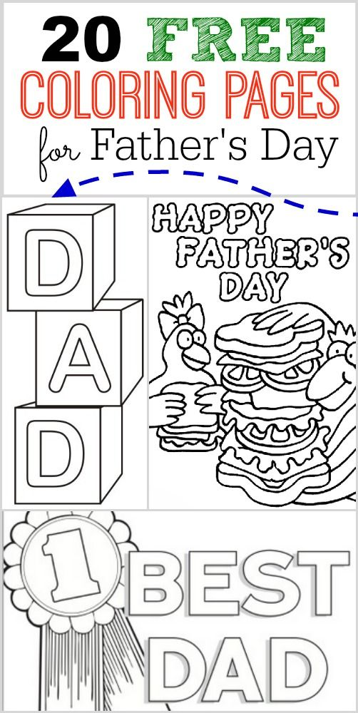 20 FREE Father's Day Coloring Pages - perfect for your kids to make for dad.