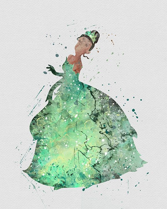Princess Tiana 2 Watercolor Art - VividEditions