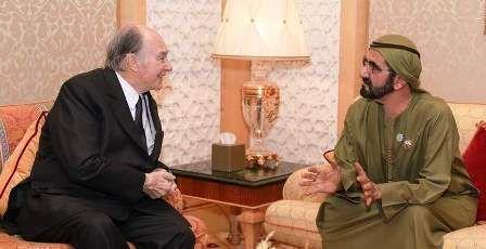 #Sheikh_Mohammed meets #Aga_Khan in #Dubai
