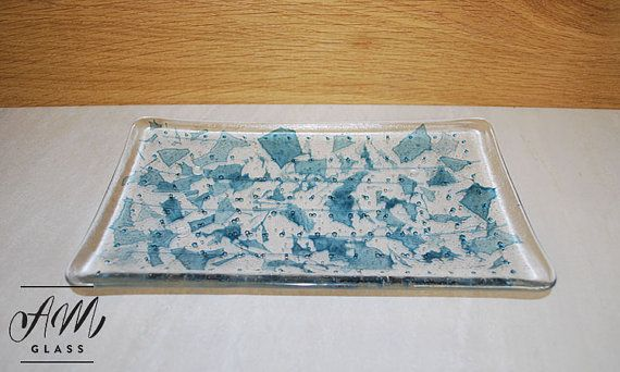 Fused Glass Serving Dish by AMGlassStudio on Etsy