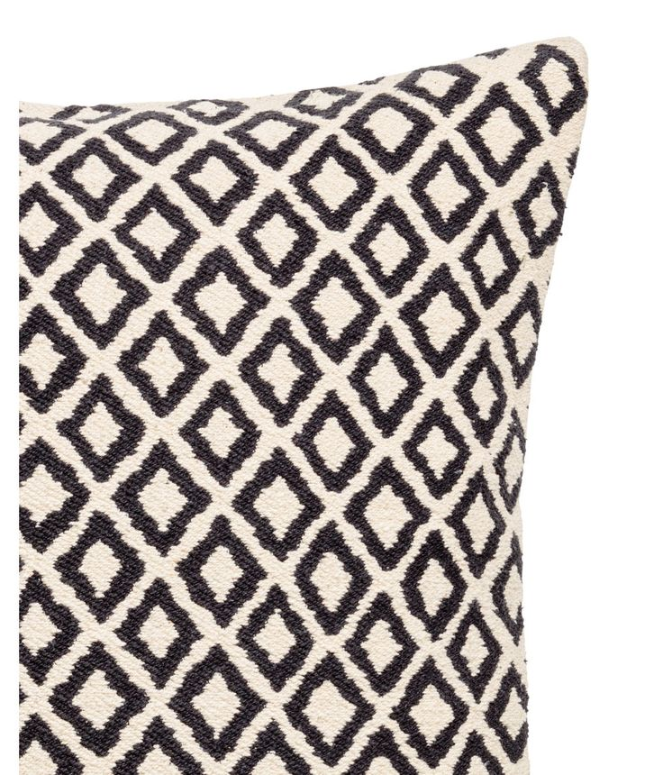 Jacquard-weave Cushion Cover | Natural white/charcoal gray | H&M HOME | H&M US