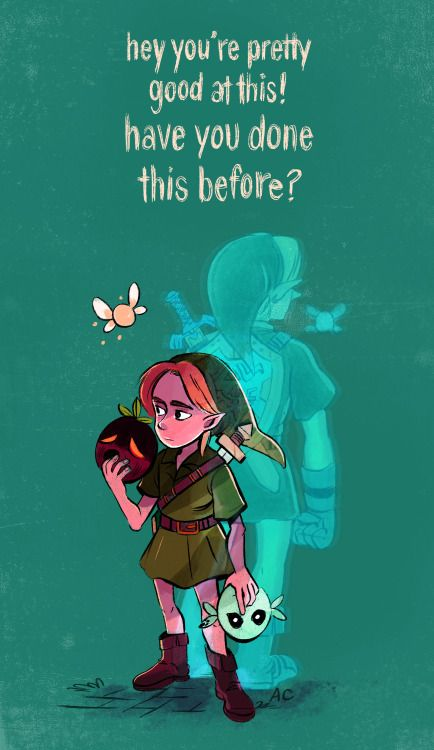 chiumonster:you have no idea, Tatl, you have no idea.Majora's Mask is my favorite Zelda game. On this run through on the 3DS, all the little motifs and the themes had an even stronger impact. It's immensely satisfying, yet very lonely as an adventure; it's about finding the heart to care about these strangers even though they may never remember what you did for them. Link's personal journey really did feel like a personal journey!