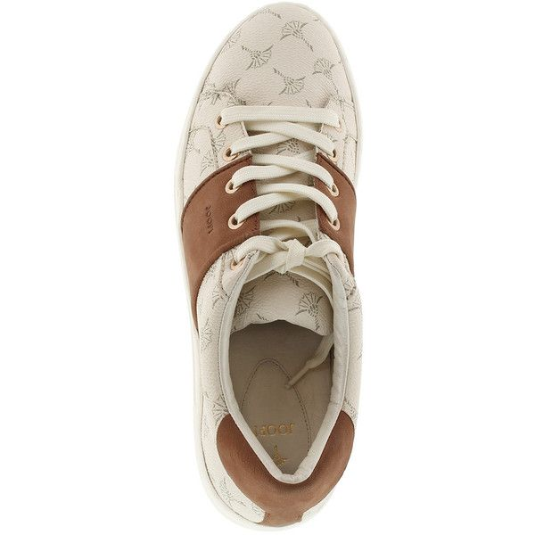 JOOP! Elaia Daphne Sneaker Offwhite (€139) ❤ liked on Polyvore featuring shoes, sneakers, vintage white shoes, champagne shoes, off white shoes, off white sneakers and joop