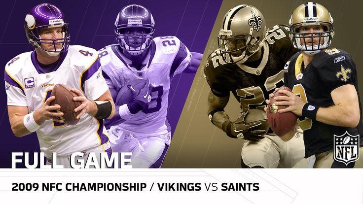 2009 NFC Championship Game: Minnesota Vikings vs. New Orleans Saints   N...