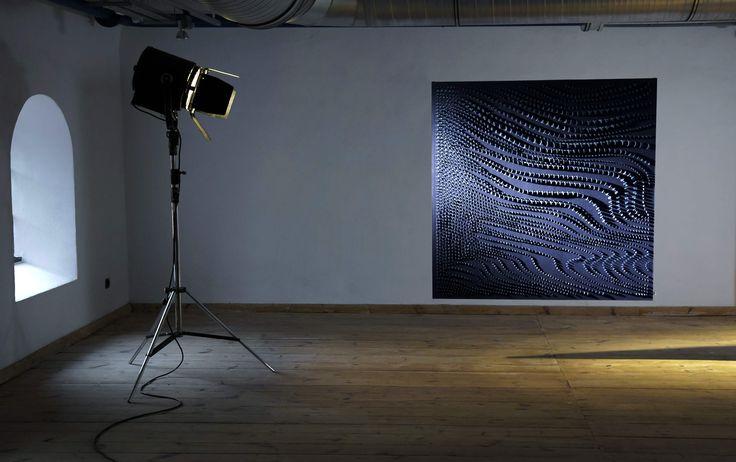 BUBBLES collection of modern textiles- decorative panel for interior   design: Aleksandra Richert photos: Enachey Film