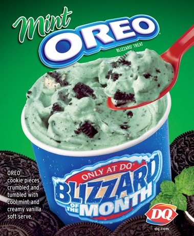 MInt Oreo Blizzard from Dairy Queen!: Dairy Queen Dq, Hash Brown, Food, Dairy Queen Blizzard Flavored, Ice Cream Flavored, Girls Scouts, Dairy Queen Mint, Oreo Blizzard, Mint Oreo