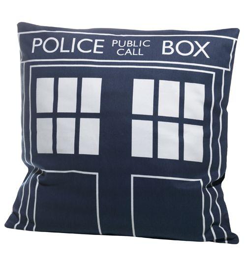 Doctor Who Tardis Design Filled Cushion From BBC Worldwide : TruffleShuffle.com